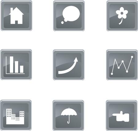 set of nine icons