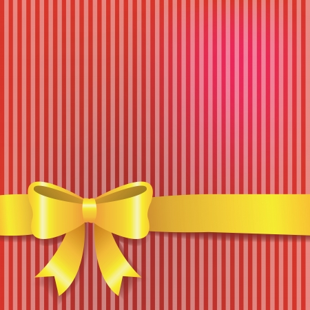 red striped background with gold ribbon