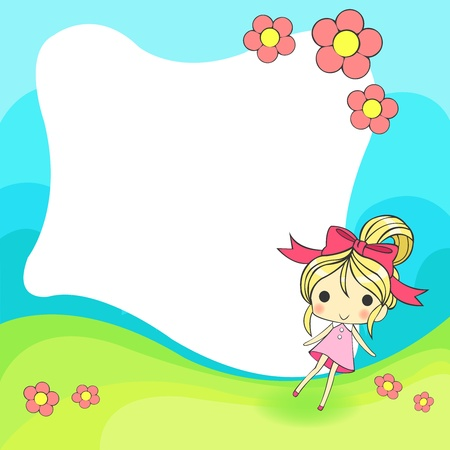 cute cartoon frame Vector