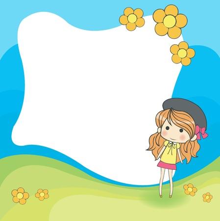 cartoon frame: carino cornice cartone animato