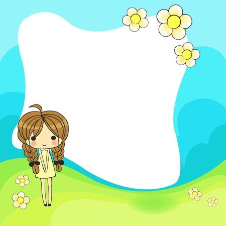 cute cartoon frame Vector