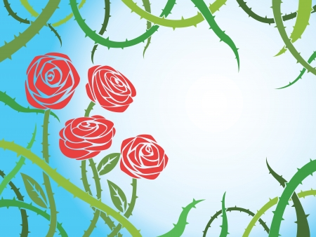 red rose with blue background for text