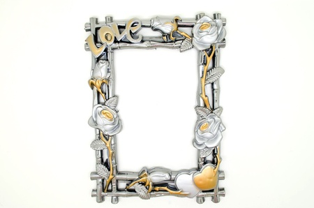 silver and gold picture frame photo