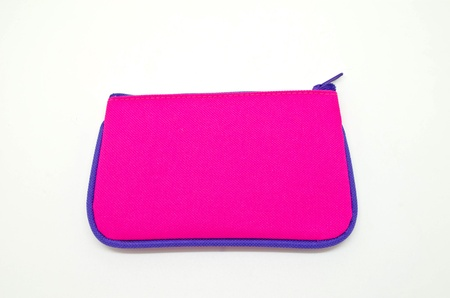 Pink bag isolated on white background