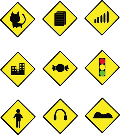 collection of road sign board