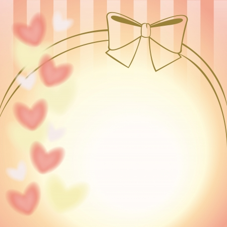 pink ribbon and hearts background