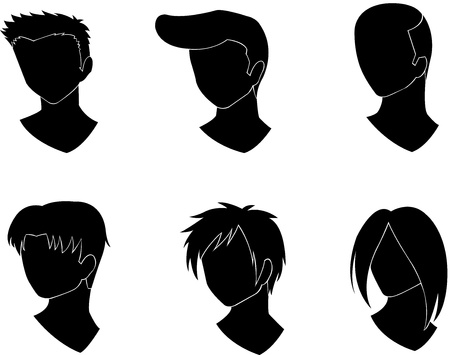 set of men' s haircut design