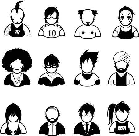 set of people icon Vector