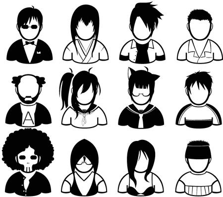 set of people in various character Vector