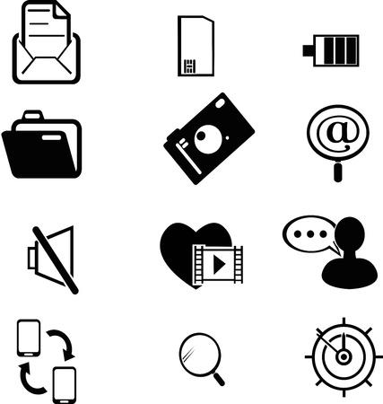 set of communication icons