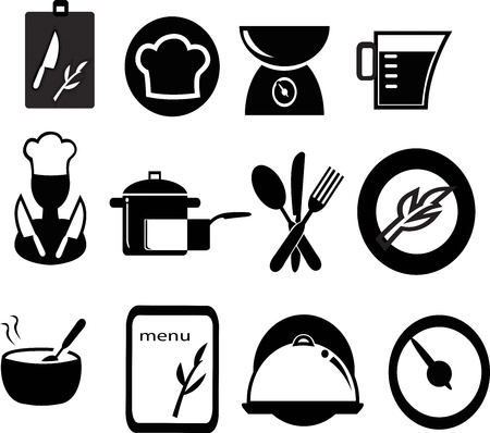 set of restaurant  icons