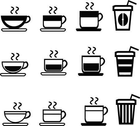set of coffee icons Illustration