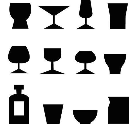 set of glass icons Vector