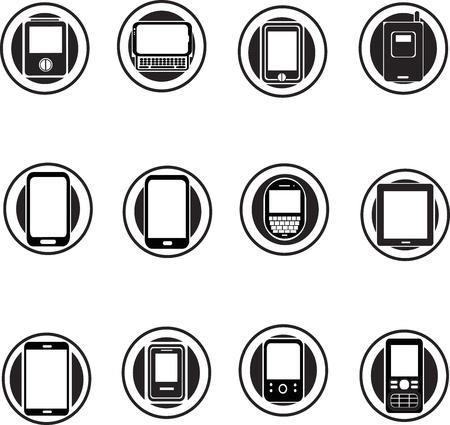 set of mobile phone icons  Illustration