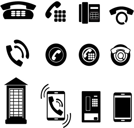 set of phone icons Illustration