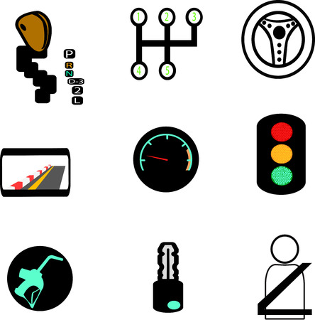set of car icons Illustration