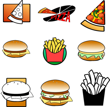 set of food icons