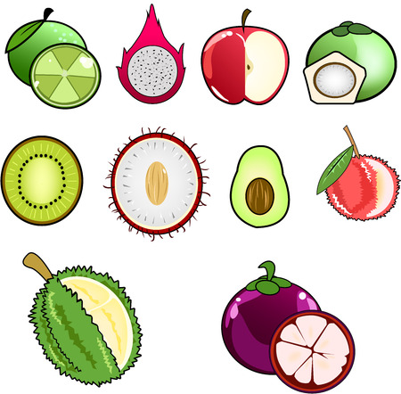 guava fruit: fruit icon Illustration