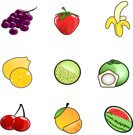 fruit icon collection created in vector format