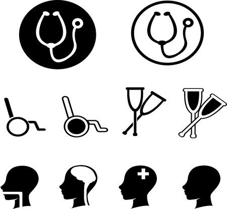 hospitalisation: ensemble d'ic�nes de la sant�
