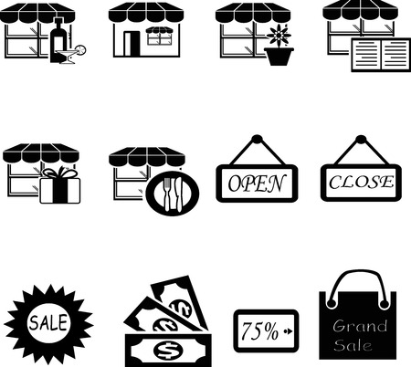 shopping icon collection created in vector format