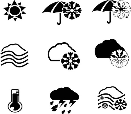 weather icon collection created in vector format
