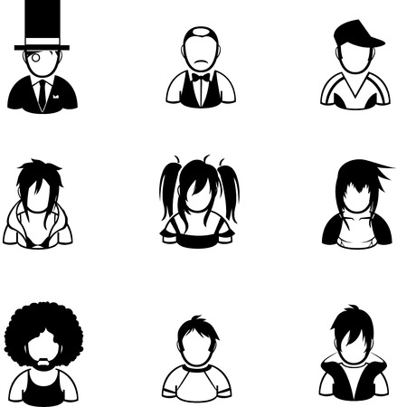 created: silhouette of people icon created in vector format