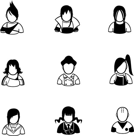 silhouette of people icon created in vector format Vector