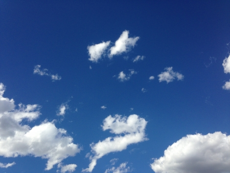 close up of blue sky with cloud Banco de Imagens