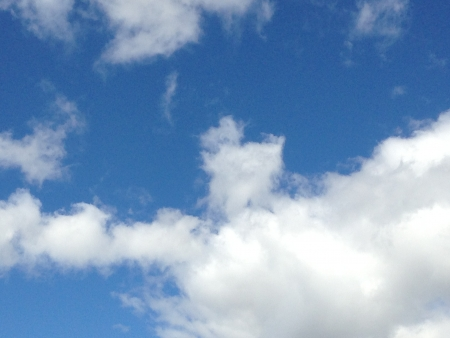 close up of blue sky with cloud Stock Photo