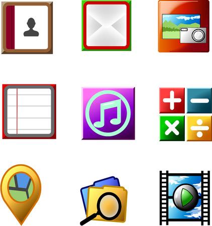 Smartphone application icon Illustration