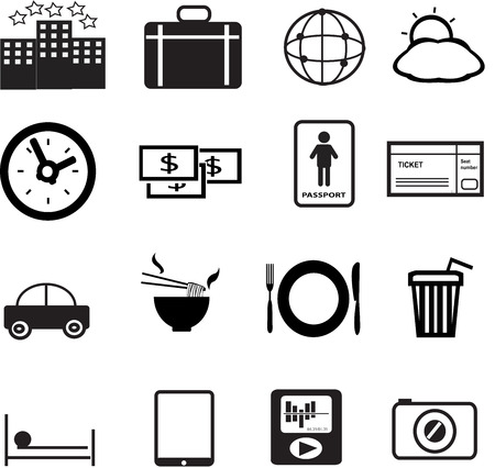 set of vacation and travel icon created in vector format