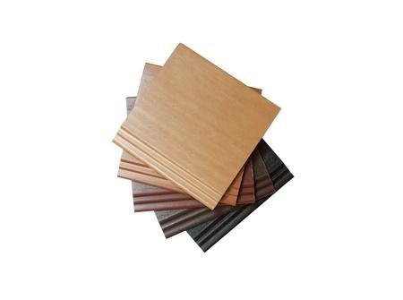 Einbuchtung: Sortieren von Kunststoffplatten auf whte Hintergrund Lizenzfreie Bilder