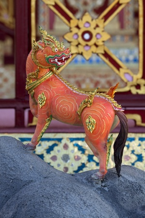 Statues of   animals in Thai literature photo
