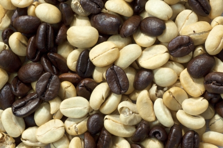 Seed of coffee  yellow and brown beans can use be background Stock Photo - 13740227