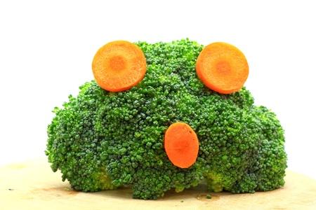 agape: Fresh broccoli and carrot concept agape