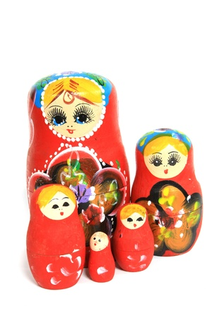 Group of Russian Doll Isolated photo