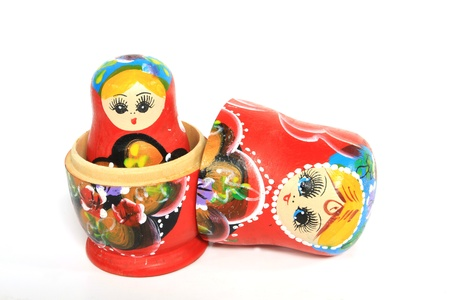 Group of Russian Doll Isolated Stock Photo - 14067594