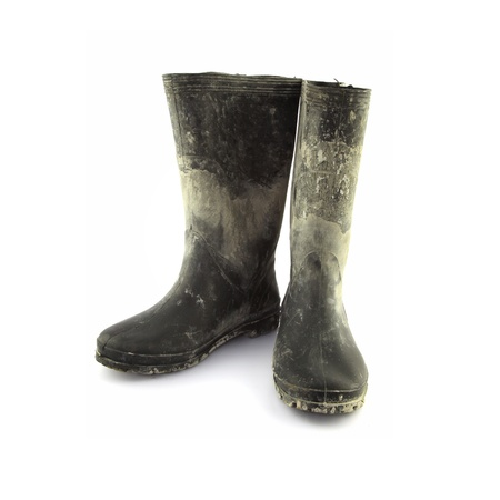 wellington boots on white photo