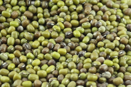 Mung beans on white background photo