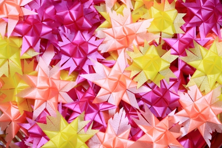 Flower handmade from ribbon colorful can use background Stock Photo - 14686404