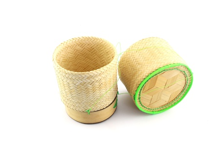 bamboo wooden rice box in Thailand  photo