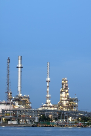 closeup of petrochemical oil refinery factory pipeline  photo