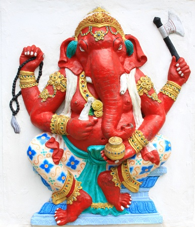 Hindu Dhundhi Ganapati at temple in thailand photo