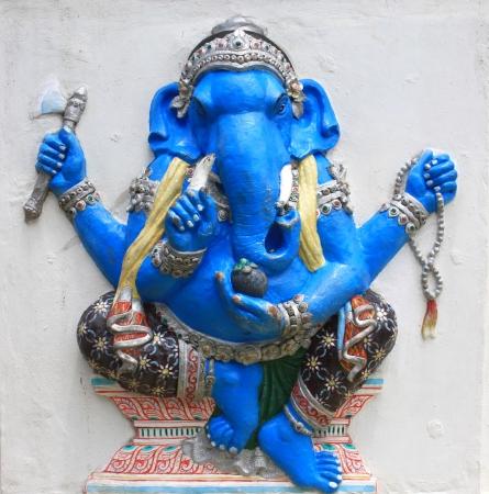 parvati: Hindu Ekdanta Ganapati at temple in thailand Stock Photo