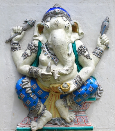 parvati: Hindu Harida Ganapati at temple in thailand