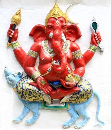 ganapati: Hindu Ekaksara Ganapati at temple in thailand Stock Photo