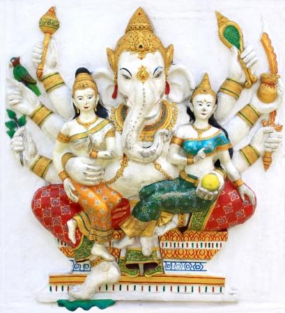 shiva: Hindoue Vijaya Ganapati au temple en thailande Banque d'images