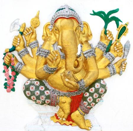 ganapati: Hindu Vighna Ganapati at temple in thailand Stock Photo