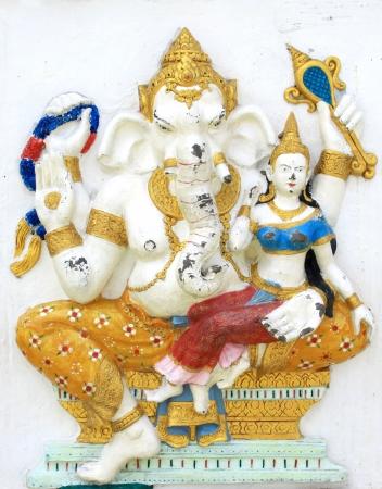 parvati: Hindu Shakti Ganapati at temple in thailand